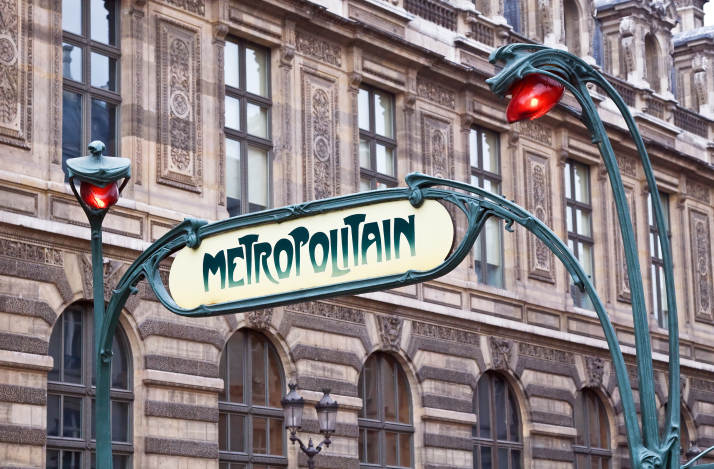 Paris metropolitan sign